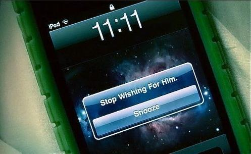 1111 stop wishing for him phone photo