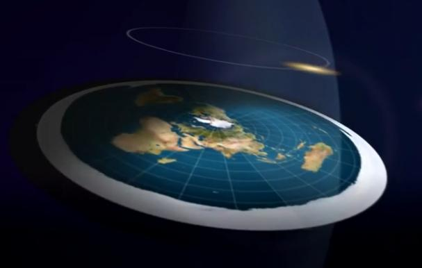 A Flat Earth photo