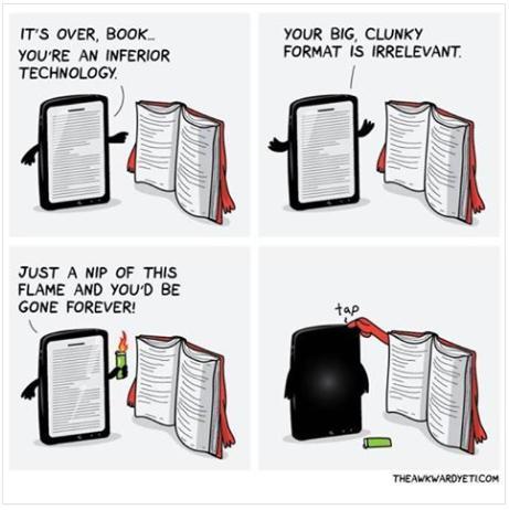 Books are over funny photo