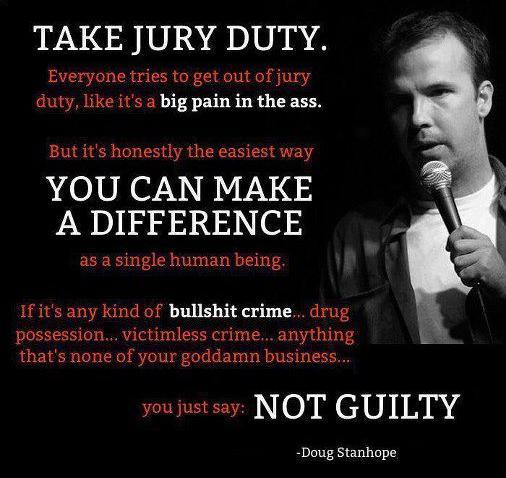 Doug Stanhope Jury Duty Joke photo