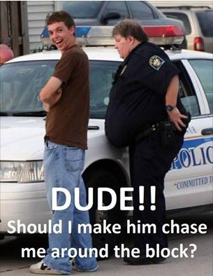 Dude, do you tink I should make him chase me funny photo