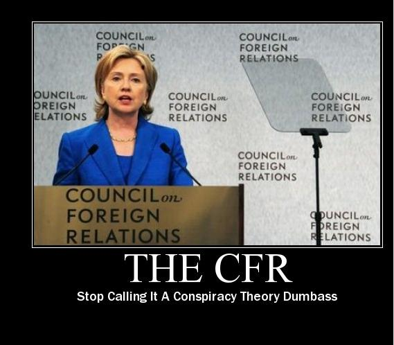 Hillary CFR Conspiracy Joke photo