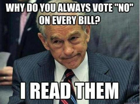 Ron Paul I Read Them quote photo