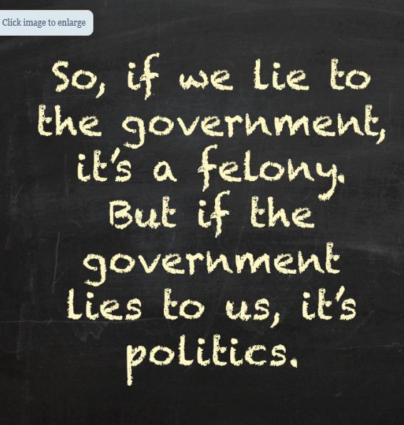 So When we Lie to the GOvernment cartoon photo