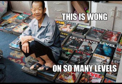 Wong on so many levels funny photo