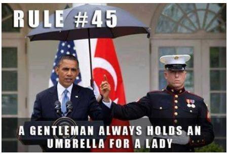 a gentalman always hold umbrella for lady funny photo
