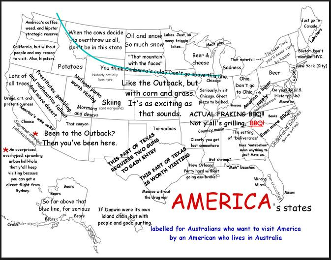 american map for australians funny phot