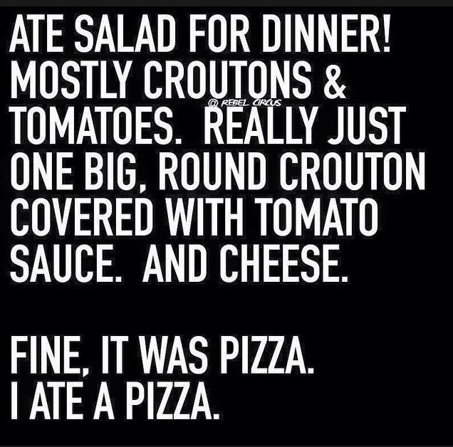 ate a salad for dinner funny photo