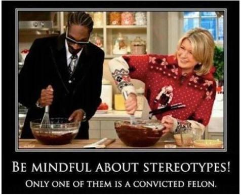 be mindful of stereotypes snoop and martha funny ot truth photo