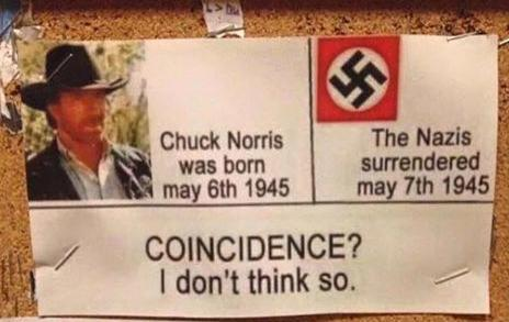 chuck Norris coincidence I don't think so funny photo