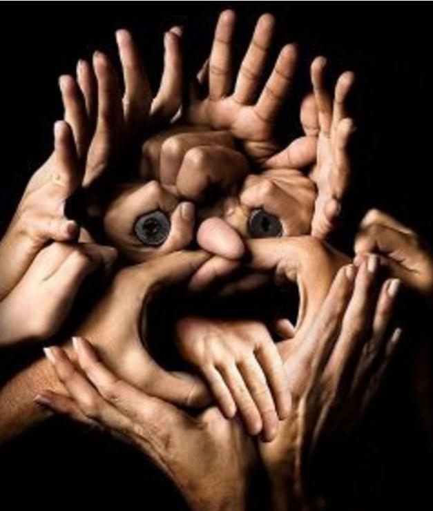 face hands weird photo