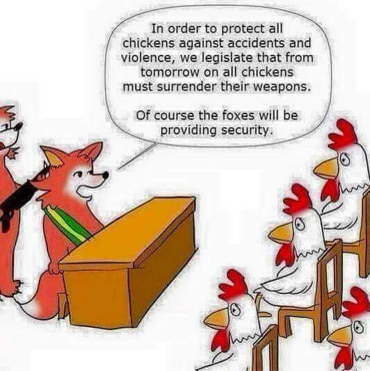 foxes guarding the chickens truth or funny photo