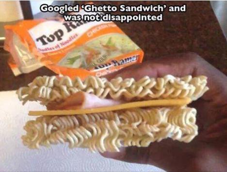 ghetto sandwich funny photo