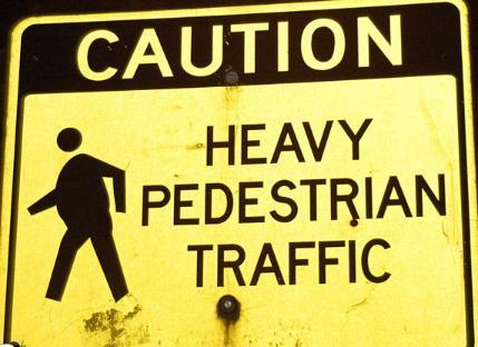 heavy pedestrian ttraffic funny photo