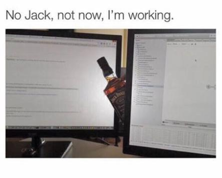 no Jack not now I'm working funny photo
