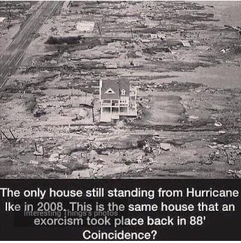 only house sanding after hurricane weird photo