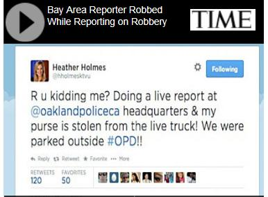 reporter robbed at cop shop phot