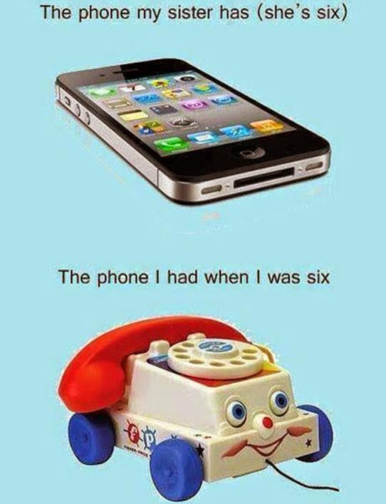 six year olds phone funny photo
