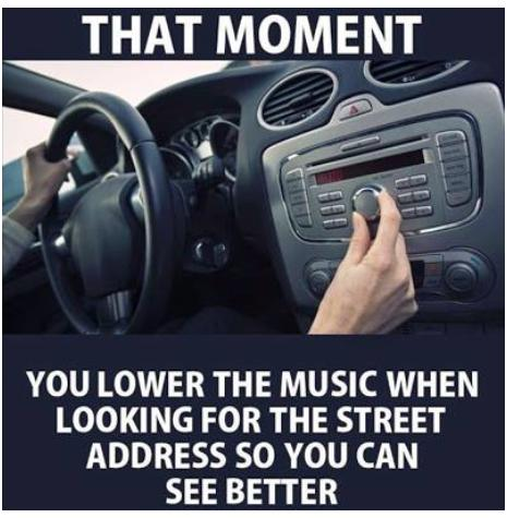 turn down radio to see better funny photo