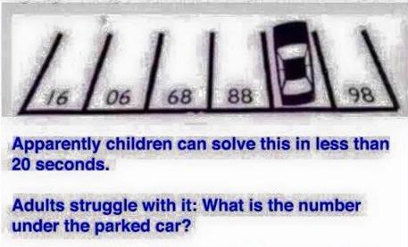 what is the number nder the car funny photo