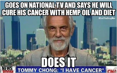 Tommy Chong cured cancer cool or truth photo