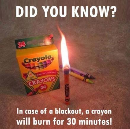 a crayon will burn for 30 minutes cool photo