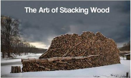 the art of stacking wood cool funny photo