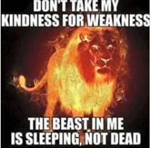the beast in me is leeping, not dead thruth or cool photo