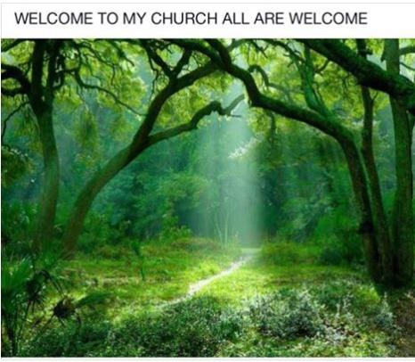 welcome to my church cool or truth photo