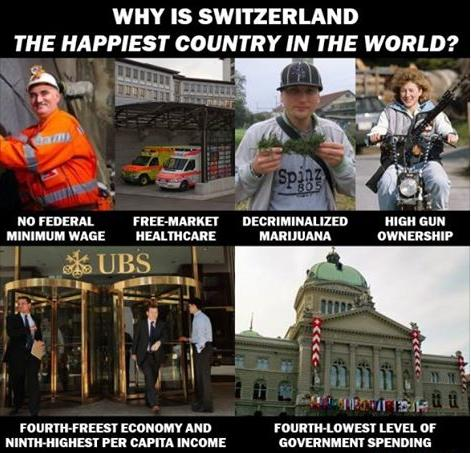 why is switzerland happiest truth or cool photo