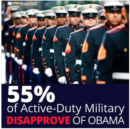 55 percent military do not support oboma truth photo