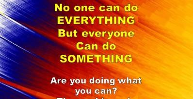 everyone can do something photo