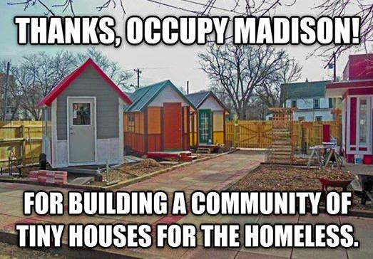 occupy Madison tiny houses photo