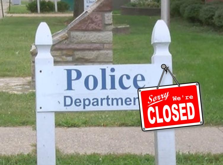 police department sorry were closed photo