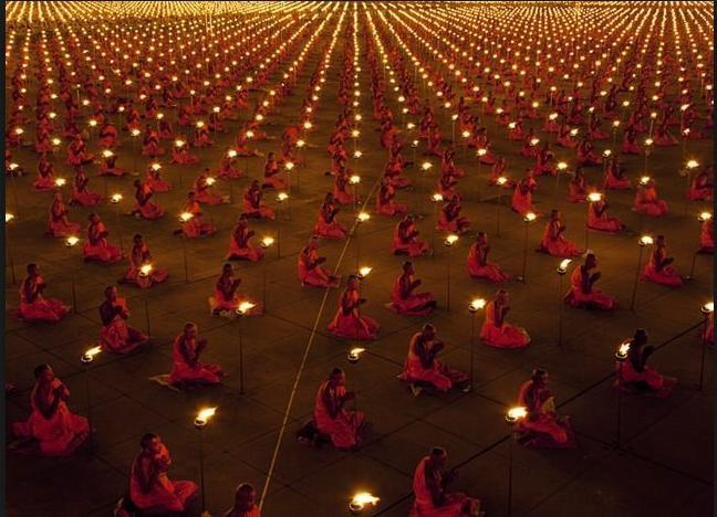100000 monks meditate for a better world cool photo